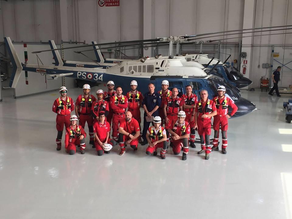 11 giugno 2016 Addestramento Operatori SMTS con VIII Reparto Volo Polizia di Stato Aeroporto Peretola
