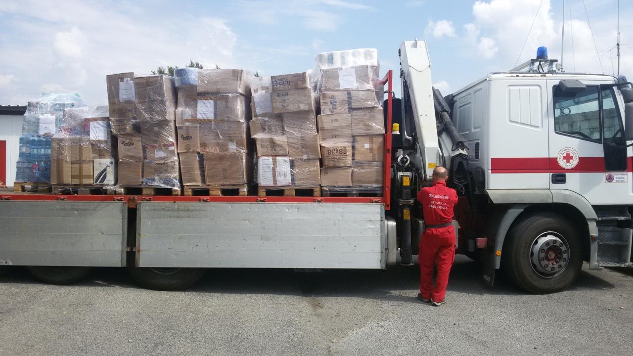 Spedizione Materiale raccolto a favore della popolazione Terremoto Centro Italia