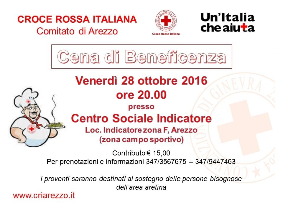 Cena di beneficenza 28.10.2016 Centro Sociale Indicatore