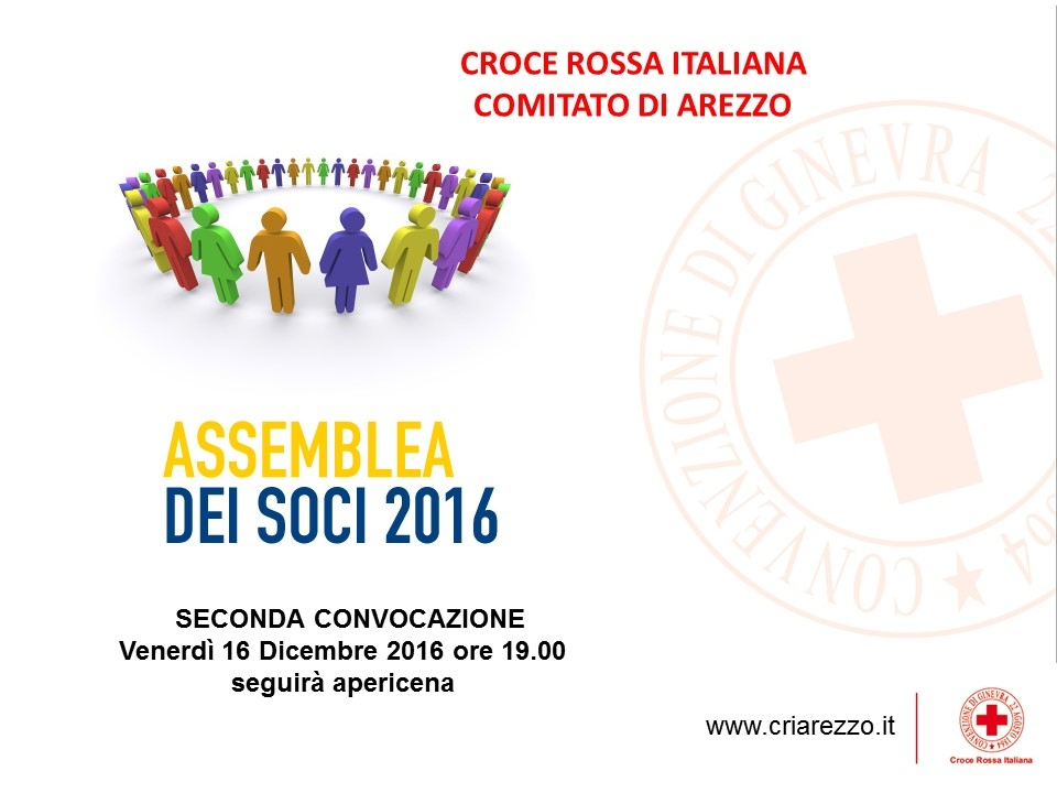 Convocazione Assemblea Soci CRI Arezzo