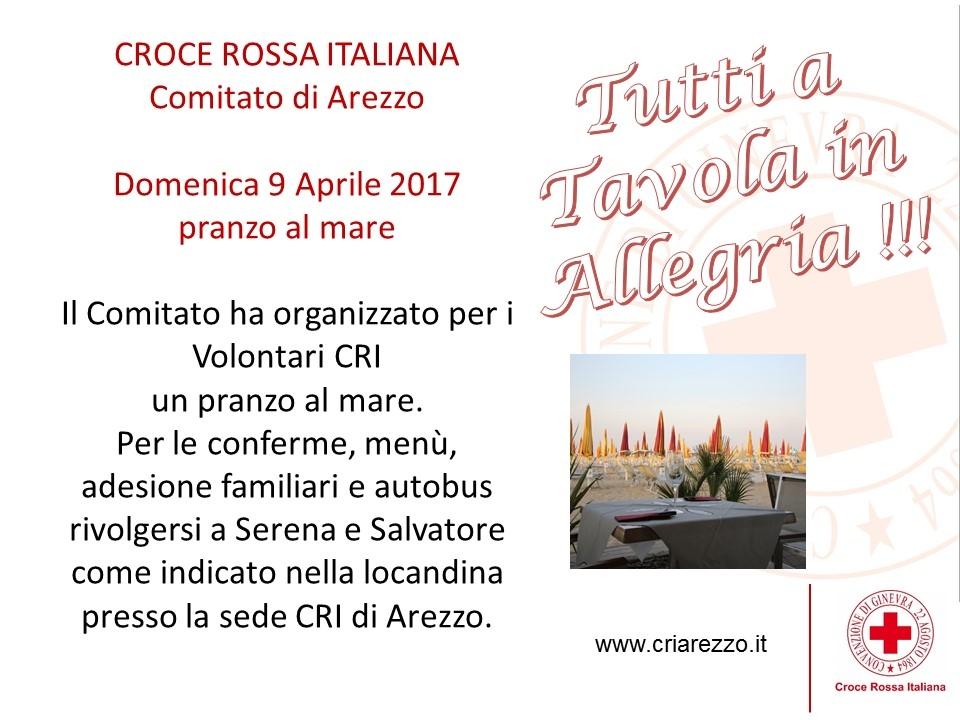 Pranzo al mare Volontari CRI  - 9 Aprile 2017