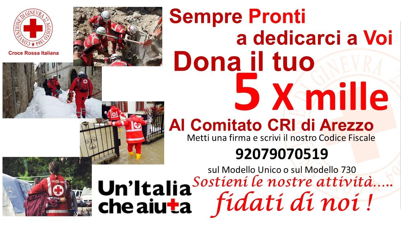 5 x mille alla Croce Rossa di Arezzo.