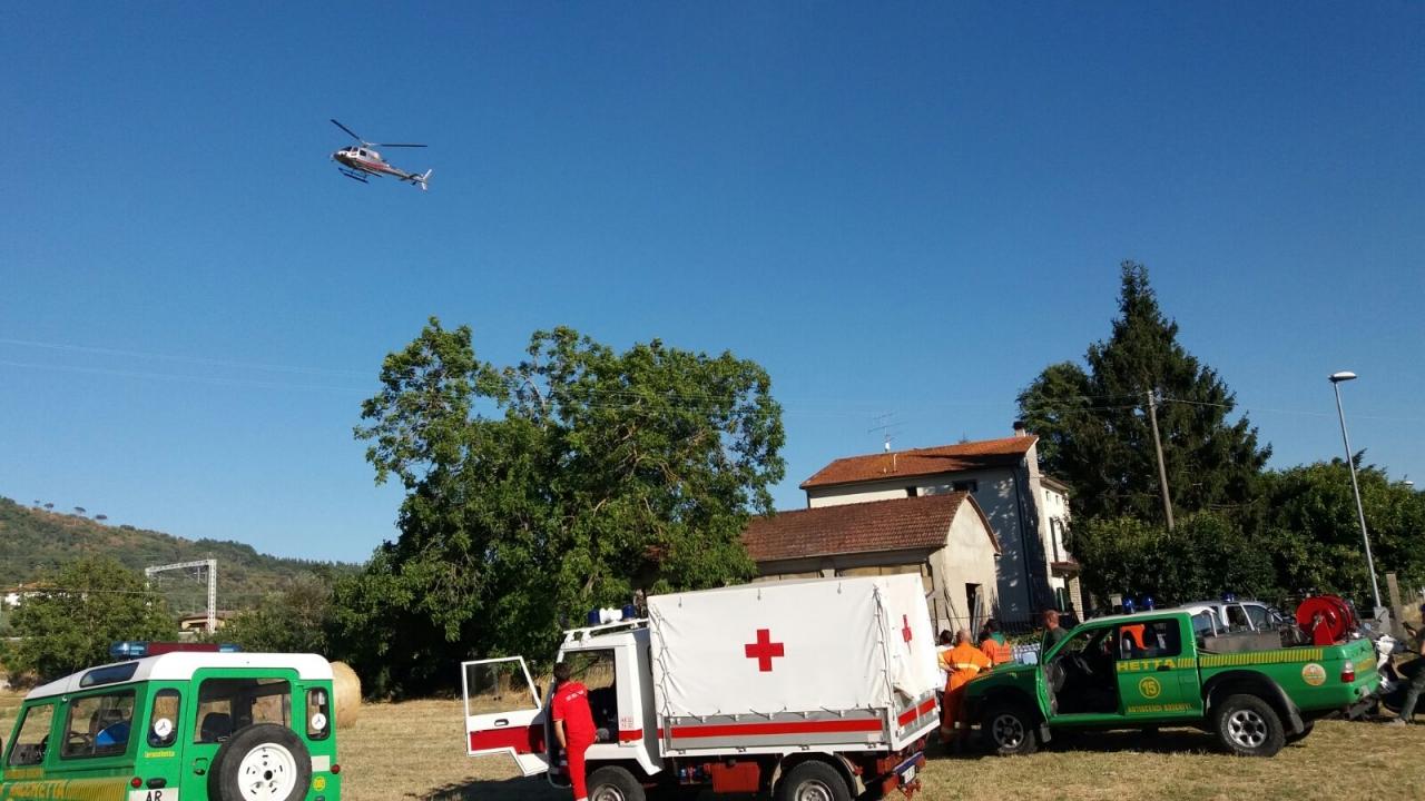 Interventi CRI in supporto a squadre AIB ( Antincendio Boschivo)