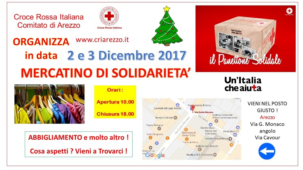 Mercatino Solidale CRI - 2 e 3 dicembre 2017