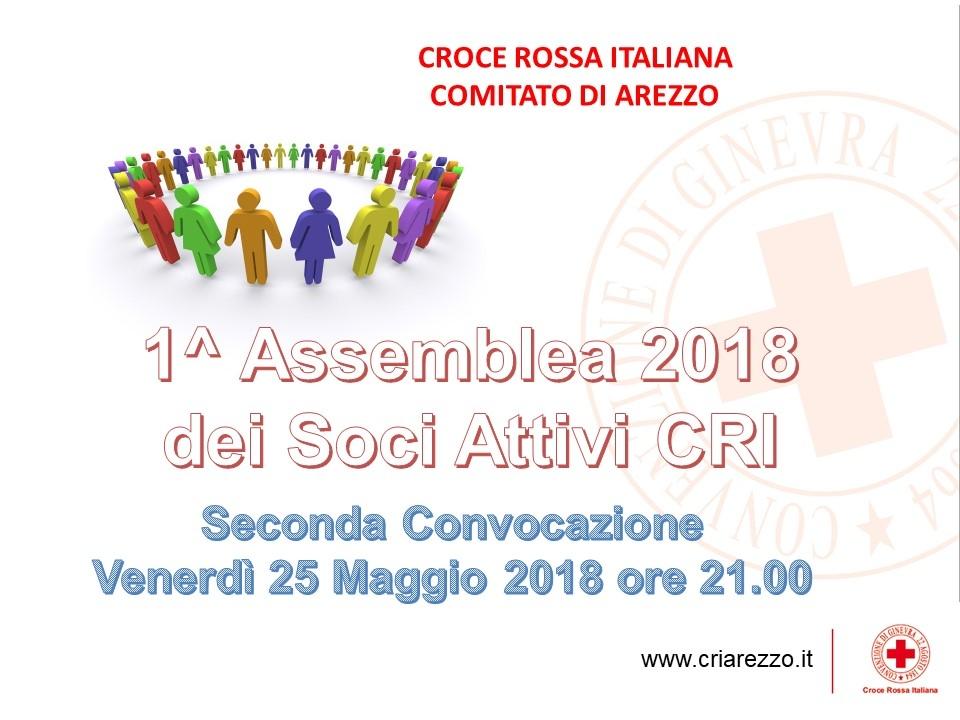 Assemblea Soci CRI Arezzo 25 Maggio 2018