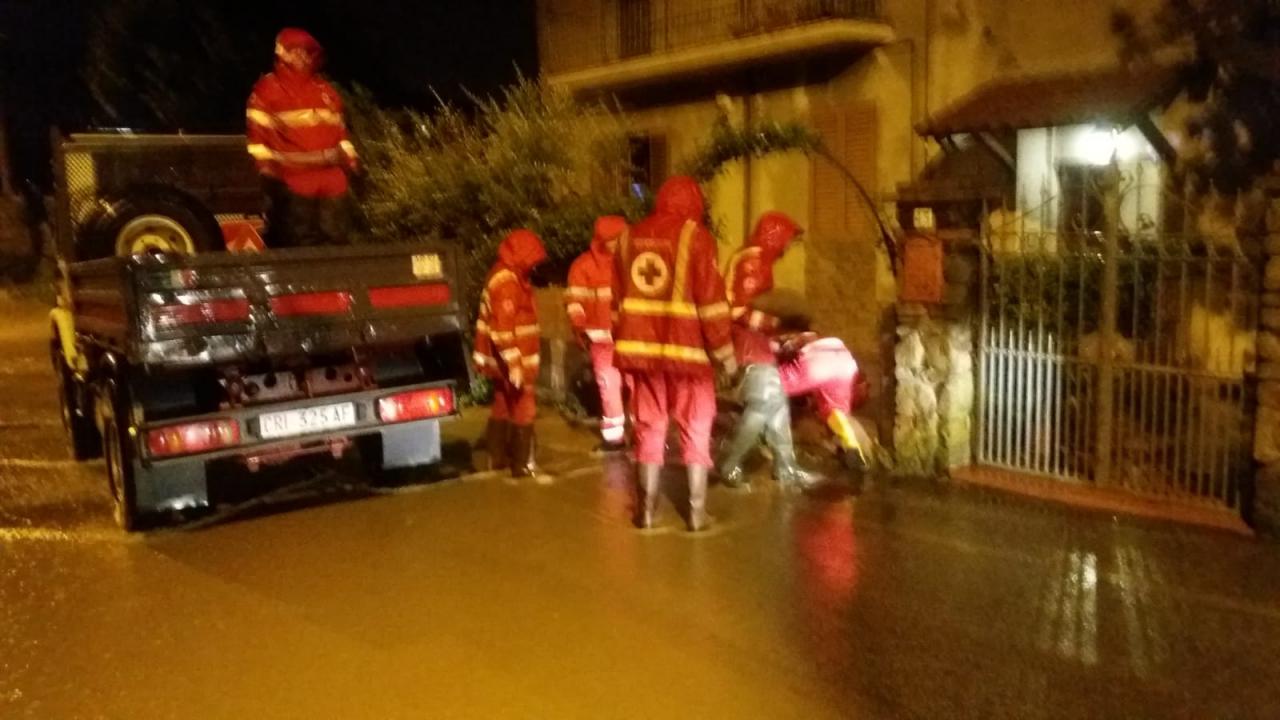 Croce Rossa Italiana in campo contro il maltempo