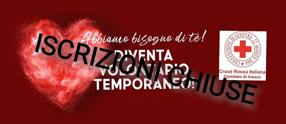 Covid-19, CRI Arezzo chiude le iscrizioni al 'Volontariato Temporaneo' per spesa e farmaci a domicilio