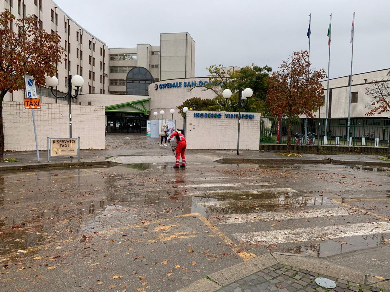Le squadre di emergenza del Comitato di Arezzo impegnate per le conseguenze del maltempo di oggi 24 Ottobre 2020.