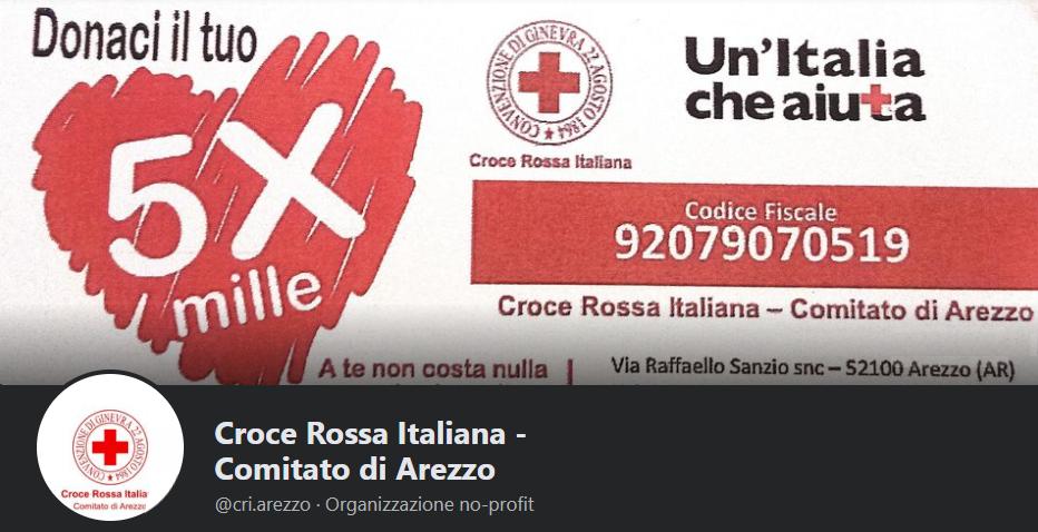 Croce Rossa Italiana Comitato di Arezzo - Facebook, pagina oscurata