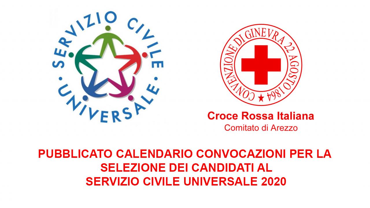 Bando Servizio Civile Universale 2020 - Convocazione selezioni per il Comitato di Arezzo