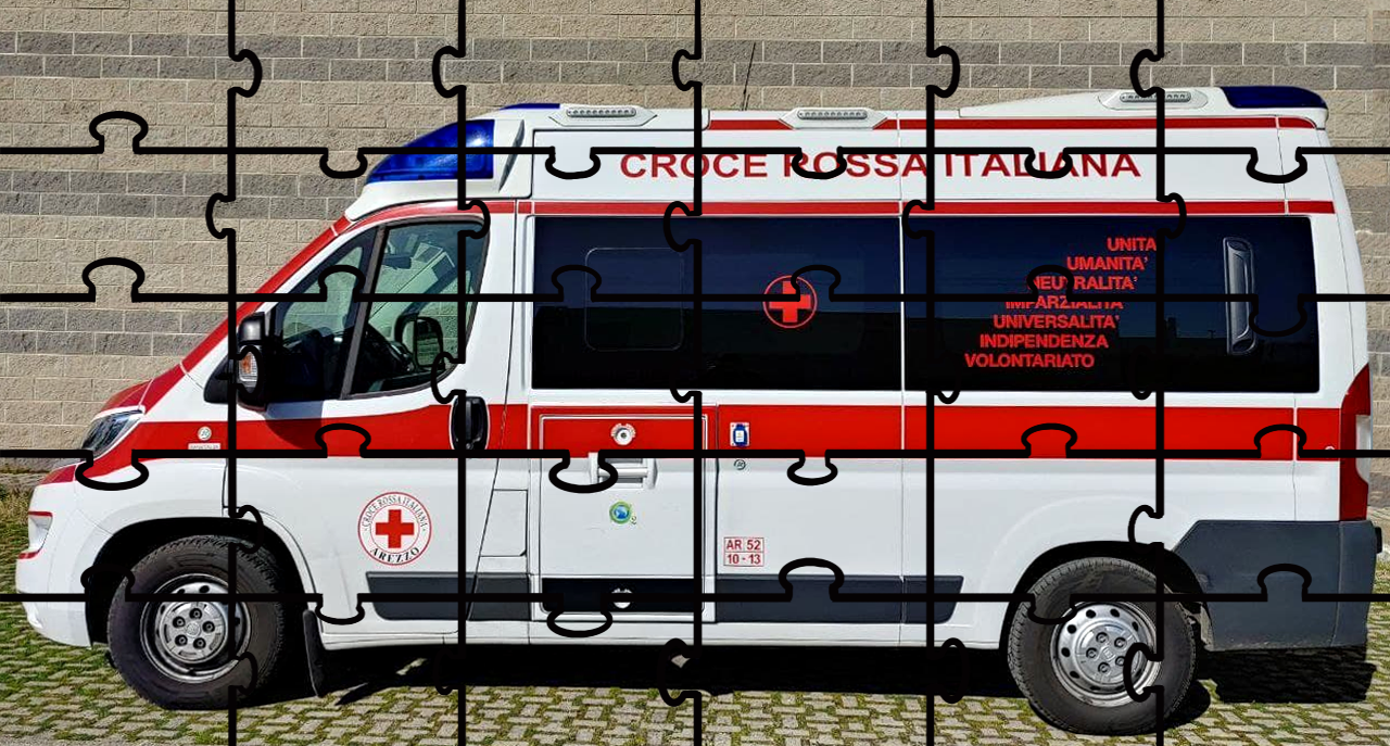 Aiutaci a completare il puzzle di una nuova Ambulanza