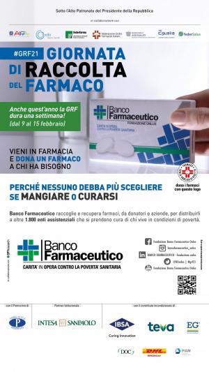 Giornata della Raccolta del Banco Farmaceutico - 2021 - Locandina